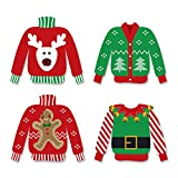 Big Dot of Happiness Ugly Sweater - DIY Shaped Holiday & Christmas Cut-Outs - 24 Count