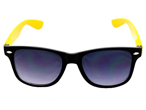 b972026e4af Amazon.com  Cheesy Retro 80s Neon Yellow   Black Costume Sunglasses ...
