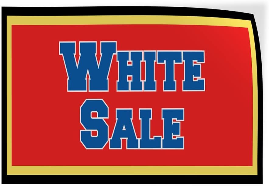 Decal Sticker Multiple Sizes White Sale Business White Sale Sign Outdoor Store Sign Red Set of 5 34inx22in