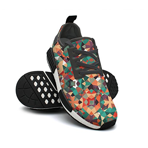 Rendy Womens Lightweight Camo Sneakers Urban Shoes Geometric Fashion Breathable Running Mesh Colorful FAAERD qTHYgY