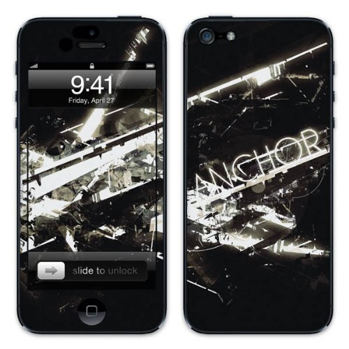 Diabloskinz B0081-0034-0033 Vinyl Skin für Apple iPhone 5/5S Anchor