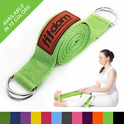 2-in-1 Premium Lightweight Yoga Stretch Strap Belt & Mat Carrier Sling, 6 Foot Lengthy, one hundred% Cotton, Perfect Yoga Accessory for Ladies, Males, Beginners to Execs, Fits All Yoga Mats & Maintain Poses – DiZiSports Store