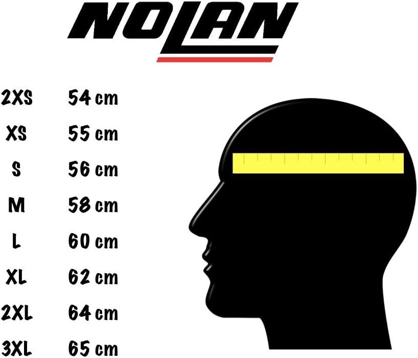 Tabla de medidas de cascos Nolan