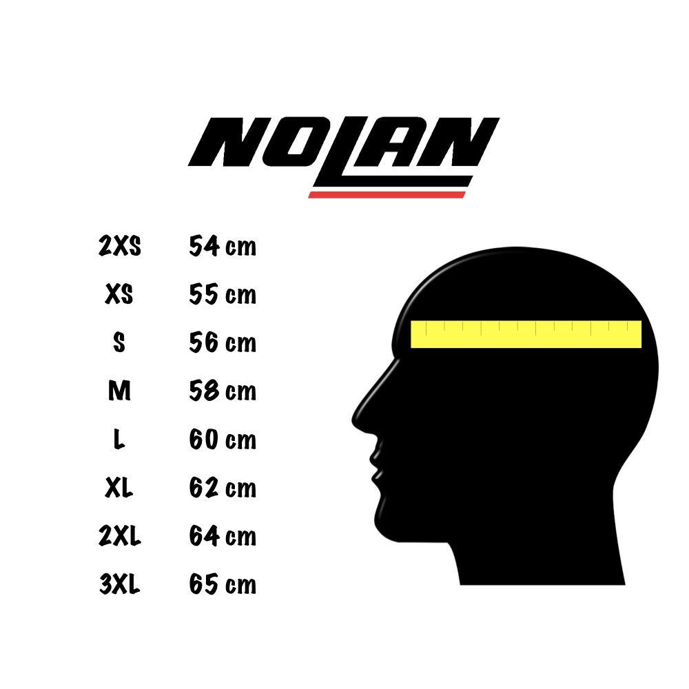 NOLAN CASCO MOTO INTEGRALE N60-5 SECUTOR NERO MATTO 072 TG M