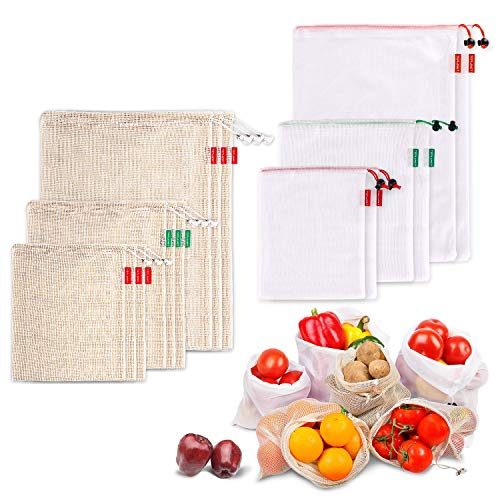 TOPLANET Reusable Vegetable Produce Bags - 9pcs...
