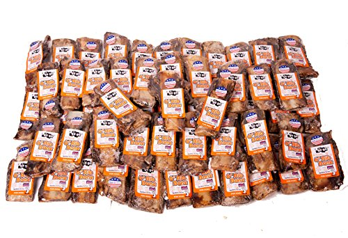 GoGo 6 inch Beef Rib Bones, Bulk Dog Bones, Made in the USA, 55 Pack