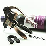 Rabbit Style Wine Opener with Metal Foil Cutter and Replaceable Worm (set of 3)