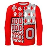 Klew NCAA Busy Block Sweater, Medium, Ohio State Buckeyes