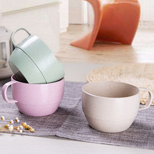 YJYdada Coffee Mug Cafe Tea Milk Breakfast Cup (Pink)