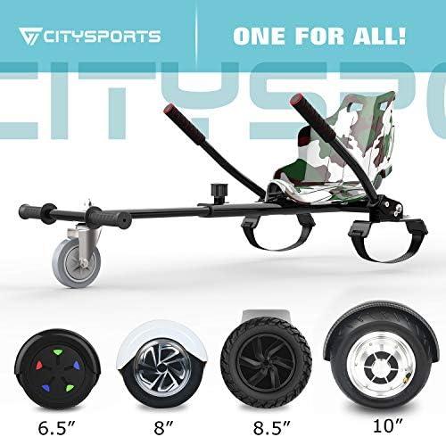CITYSPORTS Hoverkart - Go Kart Version Enfant avec Siège pour Hoverboards - Hoverkart Universel Fixation Réglable, Compatible avec Tous Les Hoverboards