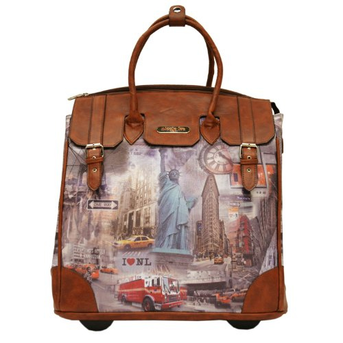 Nicole Lee Fiona Rolling Business Tote, New York, One Size by Nicole Lee