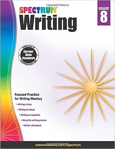 Amazon.com: Spectrum Writing, Grade 8 (9781483812038): Spectrum: Books