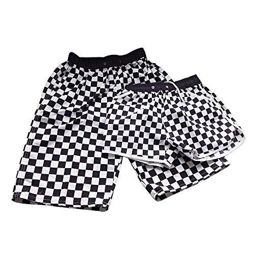 Lora Dew(TM) Pantalones cortos de los amantes pantalones de la playa de secado rápido pantalones sueltos Negro Rejillas