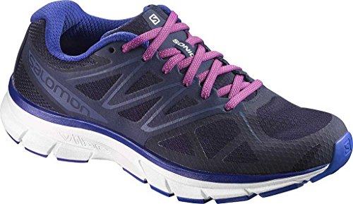 Salomon Sonic W, Zapatillas de Trail Running para Mujer Azul (Evening Blue/White/Spectrum Blue)