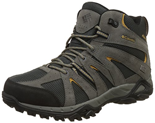 Columbia Grand Canyon Mid Outdry, Scarpine Primi Passi Uomo Grigio (Shark/Dark Banana 011)
