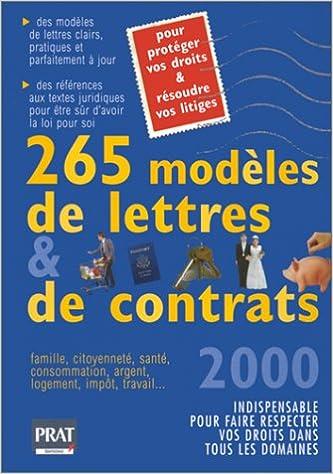 265 modèles de lettres et de contrats epub, pdf
