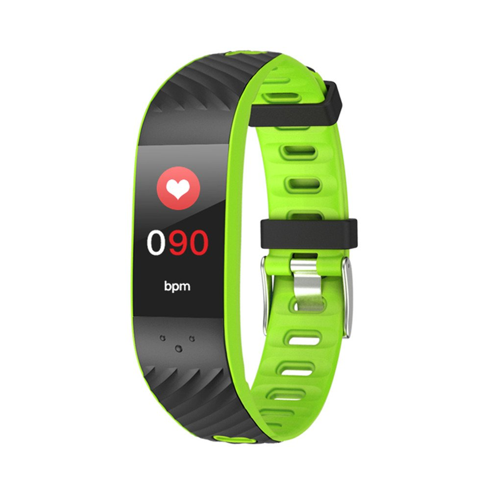 BYTOY Fitness Tracker&Wristband Bluetooth Colorful UI Touch Screen Watch Tracker with Heart Rate Monitor& Calorie Counter Bracelet for Unisex Women&Men, Android&iOS (Green)