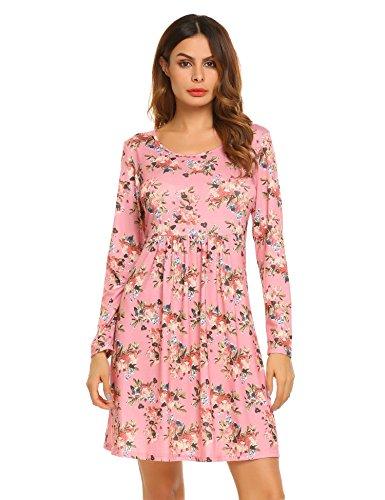 floral print sweater dress - 7