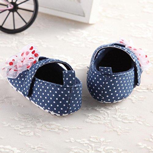 Ouneed® Krabbelschuhe , Weihnachten Baby Säuglingskind Mädchen weiche alleinige Krippe Kleinkind neugeborene Schuhe Dunkelblau