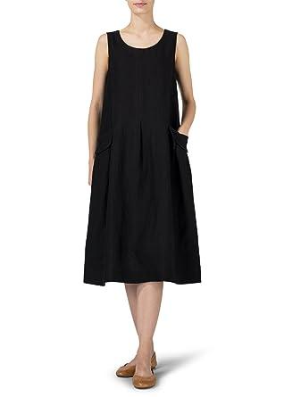 7cd3885e74 Vivid Linen Sleeveless Swing Dress at Amazon Women s Clothing store