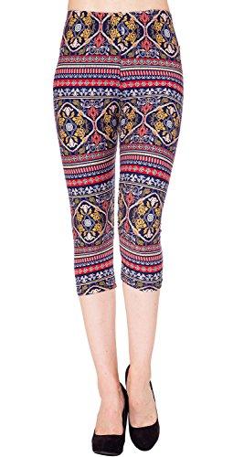 VIV Collection Print Brushed Capri Cropped Leggings (Sizes XS – 2XL) Listing 3 51FEVmJ8srL