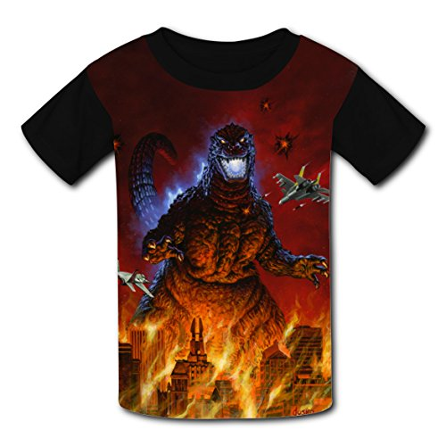 Project M All Special Costumes (Children T-shirt Battle Godzillla 3D Print Round Neck Short Sleeve Family Tshirts M)