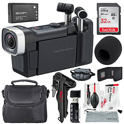 Zoom Q4n Handy Video Recorder + Travel Bag, 32GB+ Basic Accessories and Fibertique cleaning cloth