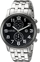August Steiner men's multifunction dial stainless steel watch