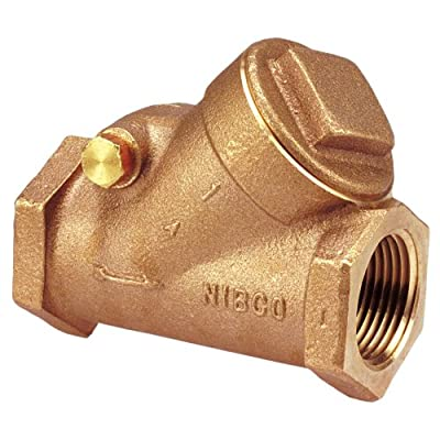 "NIBCO NL7K00C Cast Bronze Check Valve, Silent Check, Class 150, PTFE Seat, 1-1/2"" Female NPT Thread (FIPT) by NIBCO"