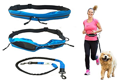 Petparty Pet Jogging Waist Belt Leash Hand Free Leash for Medium to Large Size Dog (Black) by Petparty (Image #2)