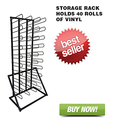 Signworld Vinyl Roll Floor Storage Rack - Holds 40 (Vinyl Storage Racks)