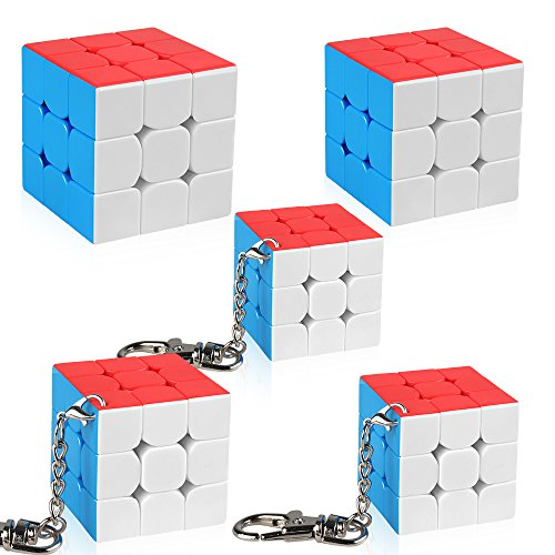 D-FantiX Moyu Cubing Classroom Set Mini 3x3 Speed Cube with Keychains Gift Box