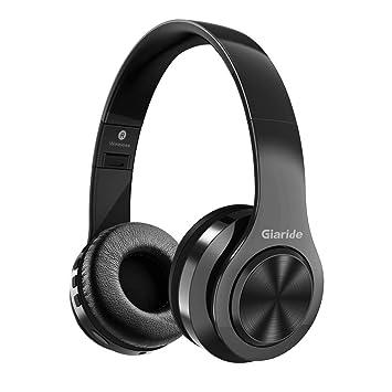 GIARIDE Auriculares Bluetooth Cancelación de Ruido Auriculares inalámbricos estéreo con Entrada de Tarjeta TF, línea Auxiliar, micrófono y Plegable ...