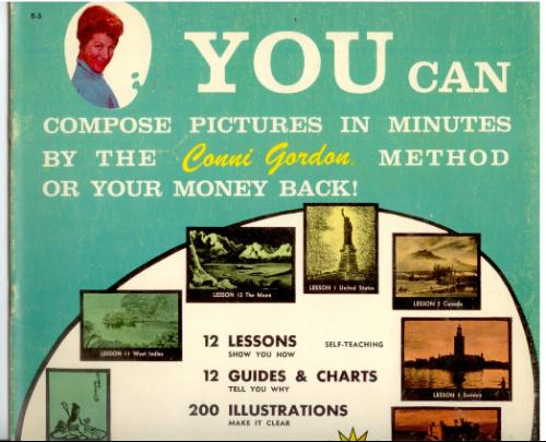 You can compose pictures in minutes by the Conni Gordon method