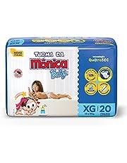 Fralda Turma da Monica Baby Jumbo XG 20 Unidades, Turma da Mônica Baby, Azul, Xg