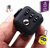 Image of FabQuality Cube Anxiety Attention Toy With BONUS eBook Included + Minion Key Chain - Relieves Stress And Anxiety And Relax for Children and Adults