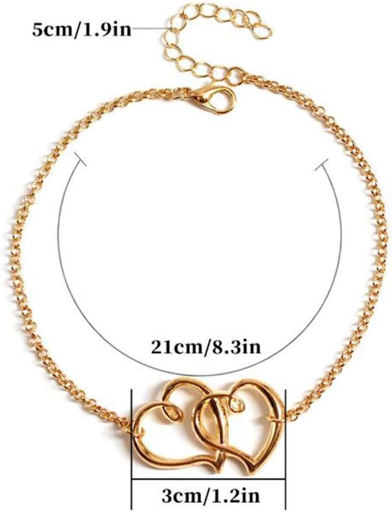 Yean Boho cheville coeur cheville cha/îne de pied pied bijoux de pied de plage pour femmes et filles