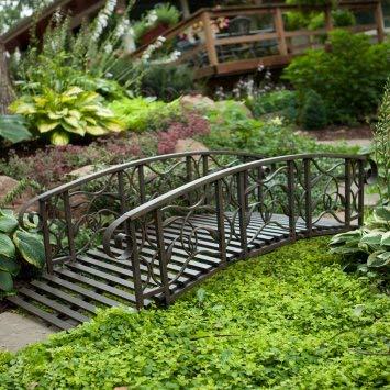 (6-ft. Metal Garden Bridge Willow Creek Lawn Furniture)
