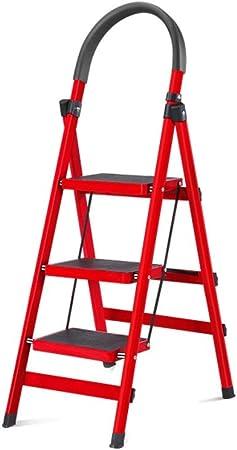 XuQinQin Escalera Plegable de Acero Inoxidable de aleación Gruesa de Aluminio Escalera Plegable de aleación de Aluminio Gruesa Escalera Plegable de Proyecto Escalera Decorativa Escaleras banquetas: Amazon.es: Hogar