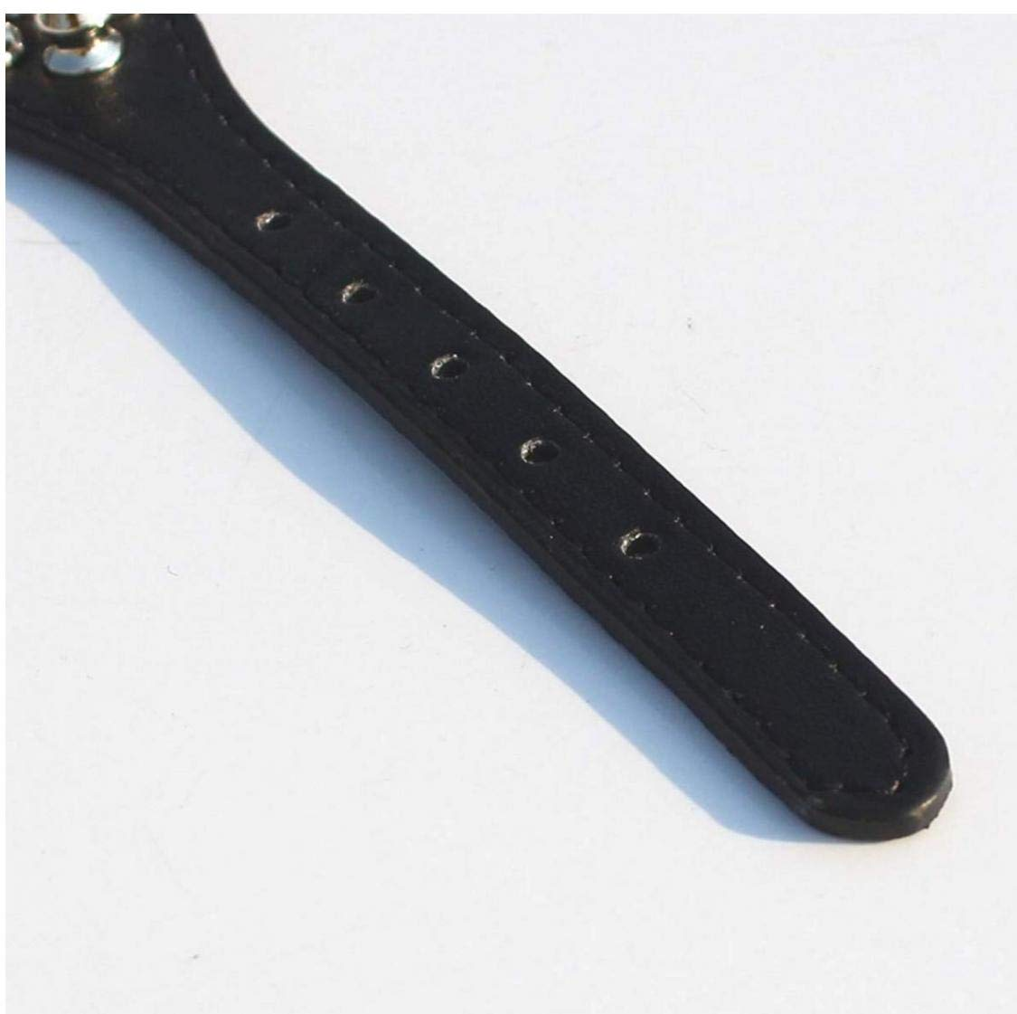 TOSSPER 11-13 Collar de Cuero con Pinchos Perro Tachonado de 7//8 de Ancho para Razas peque/ñas//x-peque/ño y Cachorros Negro, L: 11-13 para el Cuello