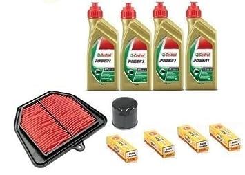 Kit de cambio y revisión de aceite para Yamaha FZ8 800. Kit formado por aceite
