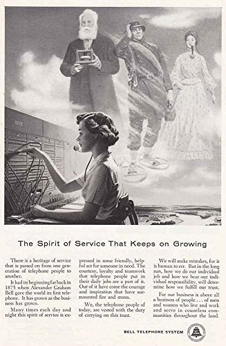 Spirit of Service, Bell Telephone Print Ad (1956 Bell Telephone)