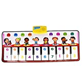 Balakie Piano Mat Baby Touch Play Keyboard Musical Singing Children Kids Multi Function Gym Crawling Canvas Piano Music Mat Carpet Blanket Early Education Tool Best Kids Baby Gift
