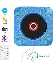 Tragbarer CD Player,VIFLYKOO Bluetooth wandmontierbar CD Musik Player mit Fernbedienung, Heim-Audio-Boombox mit HiFi-Lautsprecher, FM-Radio,MP3,3.5mm Kopfhörerbuchse für Kids Student und Elder,Weiß