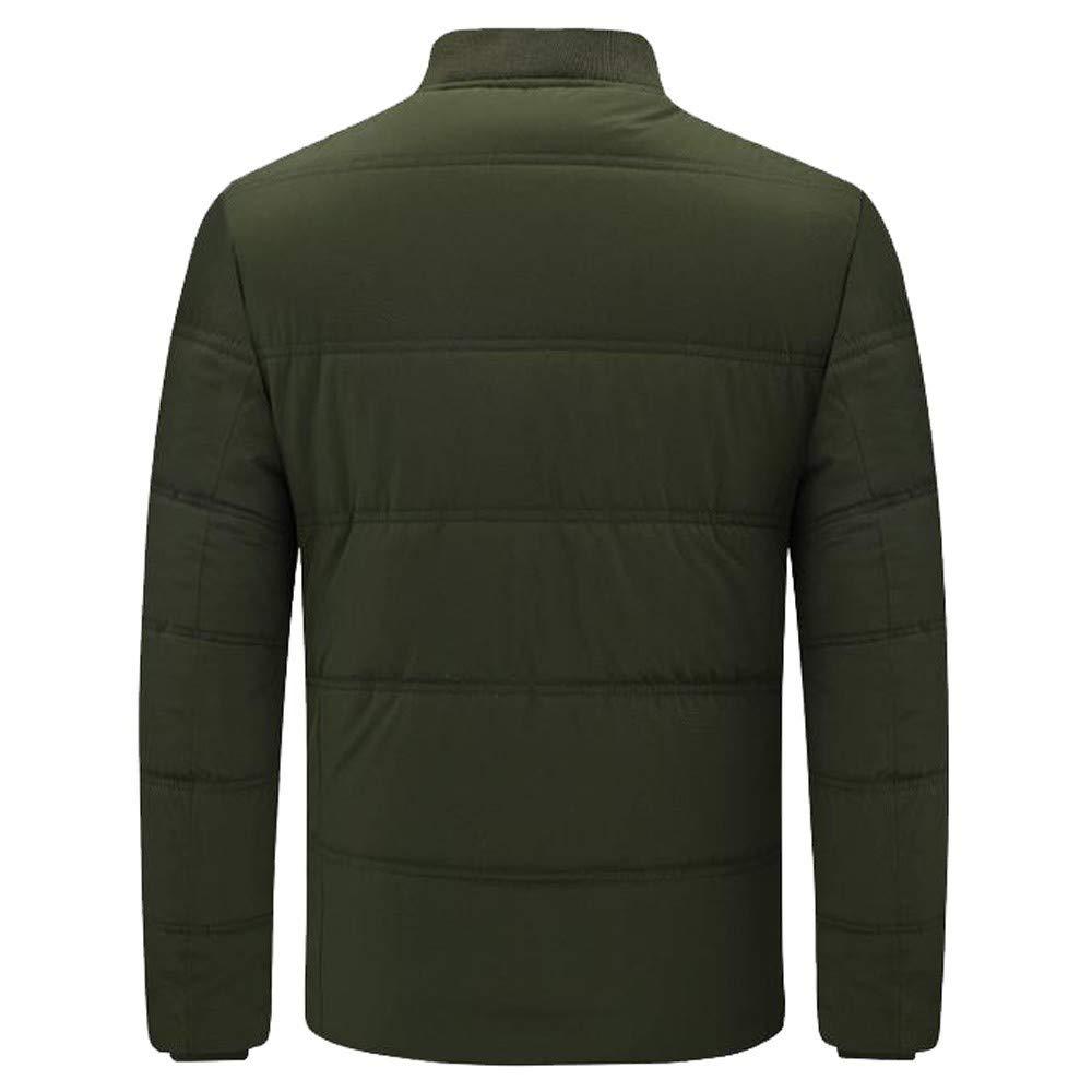 Beikoard Giacca Invernale da Uomo Tempo Libero a Tinta Unita Cappotto in Cotone Spesso Felpe Elegante Caldo Manica Lunga Camicia Inverno Abbigliamento