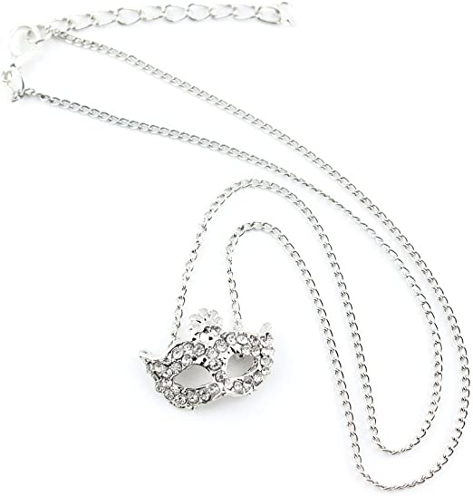 2 PCS Fashion Jewelry Necklace Long Chain Pendent Sweater Collar Bib Choker Collier Silver Fox Mask