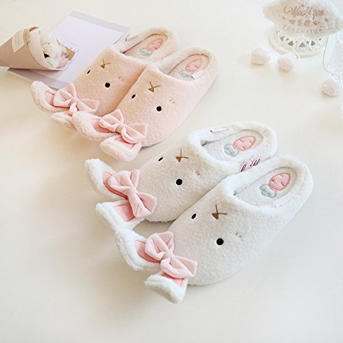 Eastlion Lovely Rabbit Warm Slipper Home Indoor Slippers White ICs3ql6e