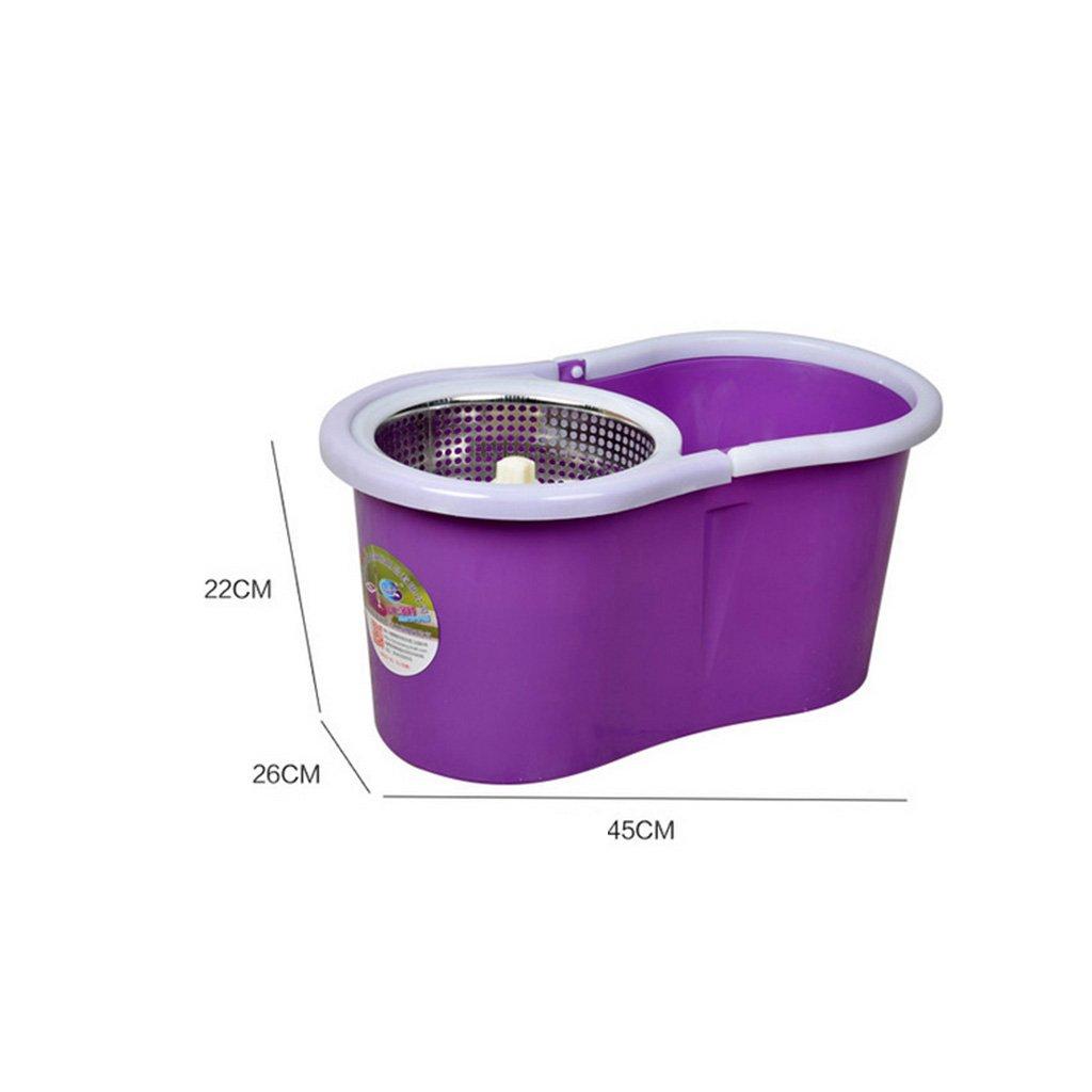 QAZSDF Mikrofaser-Mopp-rotierender Mopp-Eimer-Kit Manueller Druck-Schlafzimmer-Lager-Fliese-Badezimmer-hölzerner Fußboden-Metall drehender drehender drehender drehender magischer Mop-Kopf B07Q6XT445 Eimer 2e2375