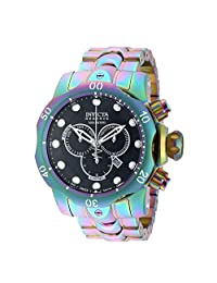 Invicta Mens 19764 Reserve Venom Swiss Made Chronograph Iridescent Stainless Steel Bracelet Watch