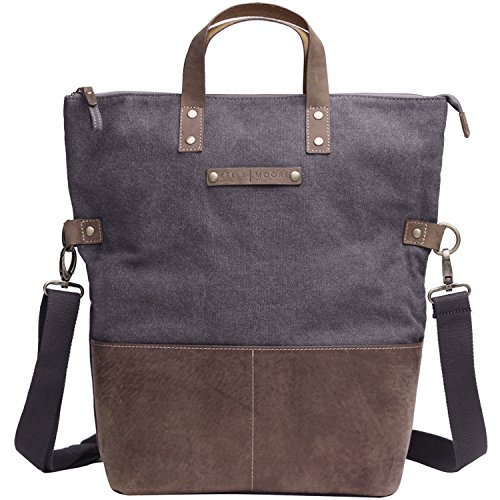 Kelly Moore Bag Collins Grey Canvas/Brown Leather Trim Tote by Kelly Moore